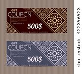 gift voucher with luxury... | Shutterstock .eps vector #422396923