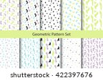 abstract geometry set shapes...   Shutterstock .eps vector #422397676