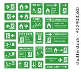 Set Of Emergency Exit Sign...