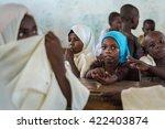 editorial use  muslim girls at... | Shutterstock . vector #422403874