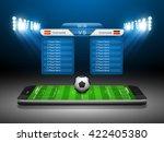 soccer online concept  football ... | Shutterstock .eps vector #422405380