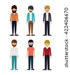 group of young men design  | Shutterstock .eps vector #422406670