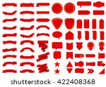 banner vector icon set red... | Shutterstock .eps vector #422408368