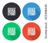 qr code vector icon   colored... | Shutterstock .eps vector #422408440