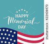 vector happy memorial day card. ... | Shutterstock .eps vector #422408470