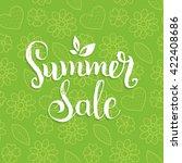 handwritten summer sale vector... | Shutterstock .eps vector #422408686