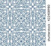 tribal arabic seamless pattern...   Shutterstock .eps vector #422408980