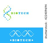 dna logo sign  double helix  2d ... | Shutterstock . vector #422409694