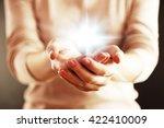 Light In Hands.  Concept Of...