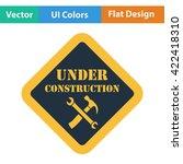flat design icon of under...