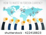 international business. foreign ... | Shutterstock .eps vector #422418823