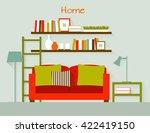 interior of a living room. flat ... | Shutterstock .eps vector #422419150