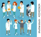 flat 3d isometric medical...   Shutterstock .eps vector #422422624