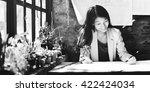 architect engineer draft... | Shutterstock . vector #422424034
