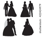 vector   isolated  silhouette   ... | Shutterstock .eps vector #422424979