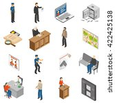 justice and law isometric icons ... | Shutterstock .eps vector #422425138