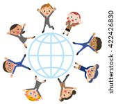 earth and children's... | Shutterstock .eps vector #422426830