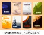 set of simple creative nature... | Shutterstock .eps vector #422428378