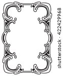 border frame molding line deco... | Shutterstock .eps vector #422429968