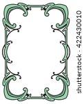 border frame molding line deco... | Shutterstock .eps vector #422430010