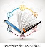 elearning concept   online... | Shutterstock .eps vector #422437000