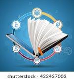 elearning concept   online... | Shutterstock .eps vector #422437003