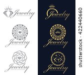gold and gray jewelry logo... | Shutterstock .eps vector #422440660