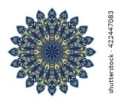 round mandala. blue floral... | Shutterstock .eps vector #422447083
