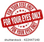 for your eyes only. stamp | Shutterstock .eps vector #422447140