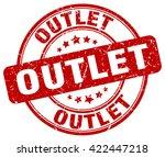 outlet. stamp | Shutterstock .eps vector #422447218
