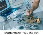 electronics repair background.... | Shutterstock . vector #422451454