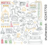 hotel vector drawings... | Shutterstock .eps vector #422457703