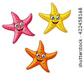 three multi colored cheerful... | Shutterstock .eps vector #422458168
