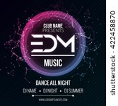edm club music party template ... | Shutterstock .eps vector #422458870
