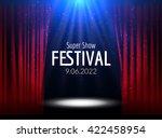 vector festive design with... | Shutterstock .eps vector #422458954