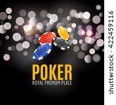 shining casino poker banner... | Shutterstock .eps vector #422459116
