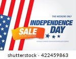 independence day sale banner... | Shutterstock .eps vector #422459863