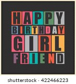 happy birthday girl friend.... | Shutterstock .eps vector #422466223