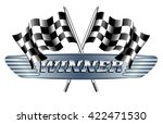 winner checkered  chequered... | Shutterstock .eps vector #422471530