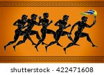 black figured runners with the... | Shutterstock .eps vector #422471608