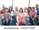 portrait of happy family... | Shutterstock . vector #422477509