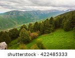 mountain landscape with fir... | Shutterstock . vector #422485333