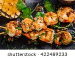 delicious roasted shrimps on... | Shutterstock . vector #422489233