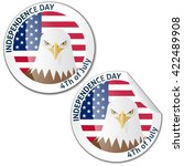 independence day stickers | Shutterstock .eps vector #422489908