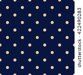 Navy Blue Seamless Pattern Wit...