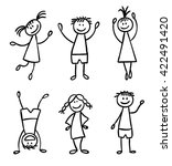 children hand drawn vector set | Shutterstock .eps vector #422491420