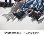 Feet Of Rollerbladers Wearing...