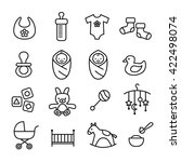collection of baby icons   kids ... | Shutterstock .eps vector #422498074