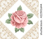vintage flower card with hand... | Shutterstock . vector #422501644