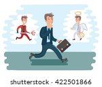 vector illustration of walking... | Shutterstock .eps vector #422501866